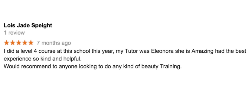 laser training course review by beauty students Lois